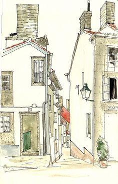 Desde la plaza de San Roque, Santiago de Compostela (España), by Telesforo Zabala