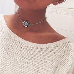Star Gaze Jewelry Choker Necklace Mandala Flower Indie Hippie