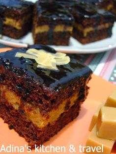 Adina's kitchen & travel: Prajitura cu crema caramel si glazura de cacao