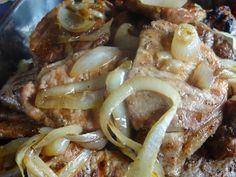 Portuguese Pork Cutlets - Bifana a Piri Piri  With caramelized onions!