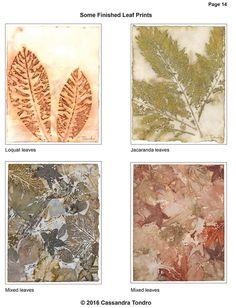 Cassandra Tondro Leaf Prints on Paper Tutorial