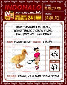 Prediksi Togel Online Live Draw 4D Indonalo Banda Aceh 30 Agustus 2016