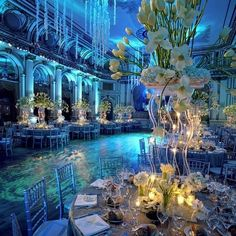 This is totally Ariel's wedding reception! If she was still a mermaid when she married....