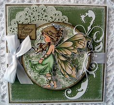 whimsey stamps  | used the image silver fairy from whimsy stamps i