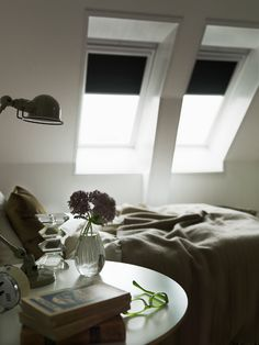 If you don't want the bright light of a new day bouncing off your contemporary roof window frames and waking you up, there's a range of stylish blackout blinds that will help you enjoy a sleep-in.