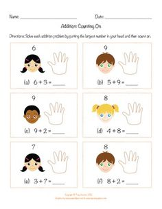 Adding by Counting On **FREE** Math Strategies Posters, Maths, Counting, Student, Learning, Children, Free, Infants, Studying