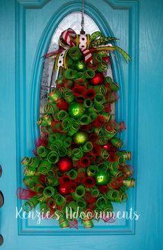 Christmas Tree Wreath by Kenzie's Adoornments