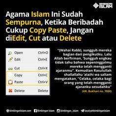 agama islam itu sudah sempurna ketika beribadah cukup copy paste jangan di edit cut dan delete Muslim Religion, Islam Muslim, Islam Quran, Reminder Quotes, Self Reminder, Best Quotes, Life Quotes, Religion Quotes, Islamic Quotes Wallpaper