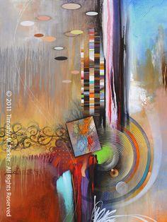"Abstract Painting, Contemporary Art, ""Digital Flare"" Artist Tim Parker - Art2D Gallery, Modern Art Original Paintings and Fine Art Prints"