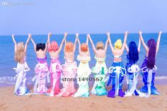 Shop for cheap cosplay wig sites, cosplay costumes for male and anime mascot costume at factory prices. wholesale-love live honoka kotori umi eli nozomi maki rin hanayo nico mermaid cos dress cosplay costume halloween costume can be purchased with a large variety of choices provide by bhuihua in fine quality.