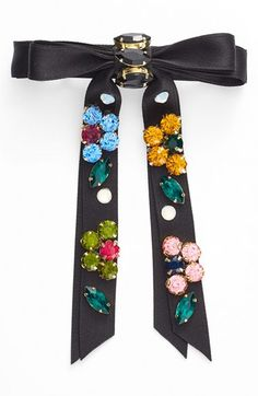 Free shipping and returns on Cara Rhinestone Bow Barrette at Nordstrom.com. Glimmering floral rhinestones stud a delightful ribbon bow barrette perfect for adding a touch of girlish sparkle to your tresses.