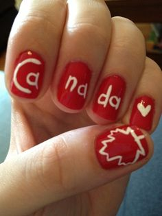 Canada day - Nail Art Gallery by NAILS Magazine. Red Nails, Hair And Nails, Canada Day Crafts, Canada Day Party, Happy Canada Day, Cute Nail Designs, Nail Art Galleries, Creative Nails, Holiday Nails