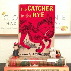 The first OLT book-clutch ever made! #olympialetan #bookclutch #thecatcherintherye #salinger