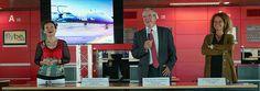 L'aéroport de Toulouse Blagnac vit à l'heure du BrexIn avec FLYBE qui étend sa programmation hiver avec une nouvelle ligne vers Manchester et le retour des vols quotidiens vers Birmingham  De gauche à droite, Catherine Gay, directrice du Développement...