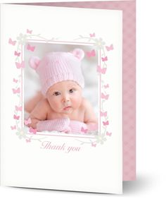Baby Girl Christening Thank You Cards $1.19 www.mamadoo.com.au #mamadoo #personalisedcards #christeningthankyou