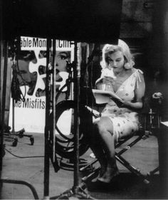 Marilyn Monroe on the set of The Misfits 1960