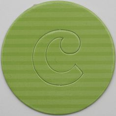 card disc with push out letter c
