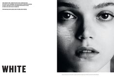 visual optimism; fashion editorials, shows, campaigns & more!: white: jenna earle by david oldham for beauty papers summer 2015