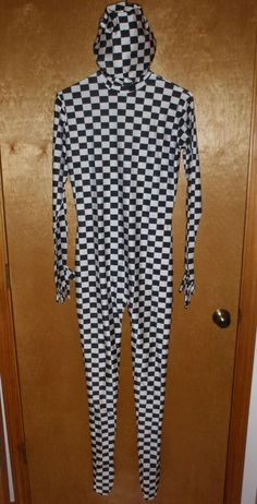 Checkered FULL BODYSUIT Costume Great for Halloween Bachelor Party VARIOUS SIZES #Costume