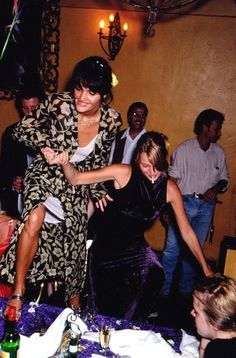 "kate-jam-and-diamonds: ""with Helena Christensen, 1995 """