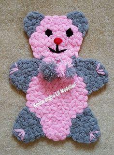 Geannoteerde Bear Fibre Making - Bear Fibre Making 40 - Origami Tattoo, Crochet Potholders, Crochet Stitches, Baby Knitting Patterns, Crochet Patterns, Braidless Crochet, Crochet Baby, Knit Crochet, Beginner Crochet Tutorial