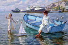 In the boat by Aleksandr Averin - #pintura #art #artwit #twitart #fineart #painting