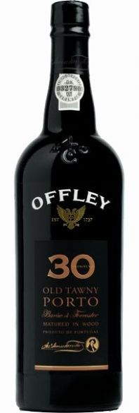 Offley 30 Years Old Tawny Port Wine- red, sweet, full bodied  Great dessert wine, chocolate, tiramisu, pies/cobblers.  Also good with brie and goat cheese