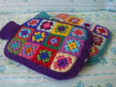 Hot Water Bottle Cover Granny square by AlexandraMackenzieNZ, $56.00