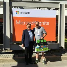 Winner of the Xbox One + Kinect bundle at Microsoft Ignite. Congrats Edward Panzeter with Universal Health Services!