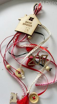 Diy Christmas Gifts, Christmas Art, Christmas Projects, Handmade Christmas, Christmas Decorations, Christmas Ornaments, String Crafts, Dyi Crafts, Crafts For Kids