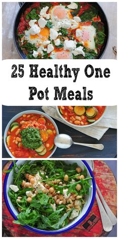 Looking for some HEALTHY one pot meals..here is the list for you. AND 15 of these meals can be made in under 15 minutes.