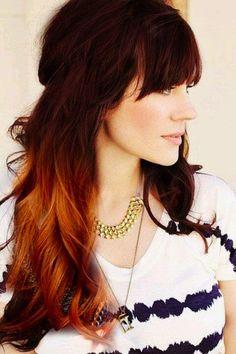 brunette copper ombre - still my favorite. grow hair grow!