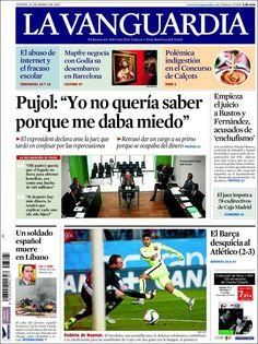 Diario LA VANGUARDIA del 29 de Enero 2015 Recordamos que pueden visualizar cada día las principales portadas titulares ocurridos en España - Catalunya - Barcelona en http://www.youtube.com/vendopor