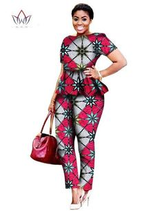 2017 Legging Sets for Women Custom Brand Two Pieces Sets African Bazin Riche Clothes for Women Two Piece Pants Set African Latest African Styles, Latest African Fashion Dresses, African Print Dresses, African Dresses For Women, African Attire, African Wear, African Women, African Outfits, African Prints