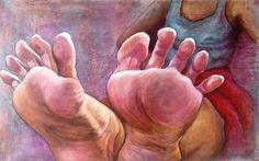 La dolce vita, olio su tela www.monicaspicciani.it Tuscany ITALIAN contemporary Artist painting hand, portrait, feet, still life, animals.
