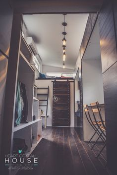 """A tiny house in Dayton, Ohio named """"The Heart Of It All""""."""