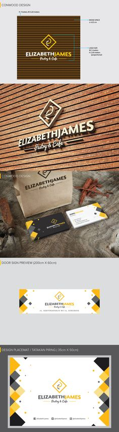 Elizabeth-James Brand Guideline on Behance. This is my newest branding design project from a Cafe in Surabaya-Indonesia. Please visit my behance page to see the complete version. Thanks #branding #consultant #logo #conwood #bizcard #design #desain