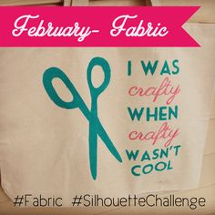 February Silhouette Fabric Challenge– Freezer Paper Stenciled Tote Bags #SilhouetteChallenge