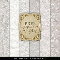Freebies Vintage Style Papers Kit
