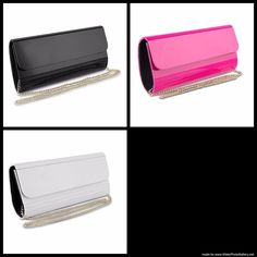 Mad Style Acrylic Elongated Clutch | Black, Pink or White #MadStyle #Clutch