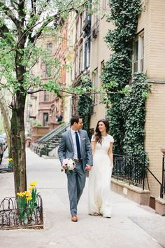 City hall wedding why not? Beach Wedding Photos, Wedding Shoot, Wedding Bride, Dream Wedding, City Hall Wedding, New York Wedding, New York City Hall, Modest Wedding Dresses With Sleeves, Courthouse Wedding
