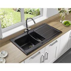 Astracast EQ15MBHOMESK Equinox 1.5 Bowl Satin Black Ceramic Kitchen Sink: Amazon.co.uk: DIY & Tools