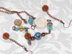 Multi Color Sand Sea Bead Chain Necklace by CJKingOriginals, $32.00
