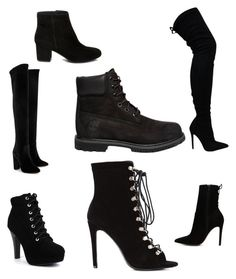"""""""Shoessss"""" by beedlepaige on Polyvore featuring Aquazzura, ALDO, Timberland and Steve Madden"""