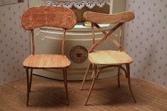 Two chairs tutorial/downloadable PDF http://www.pinterest.com/cdeschuytter/dollhouses-miniatures-3/