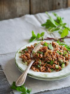 Red Rice Salad with Mint and Shallot Vinaigrette