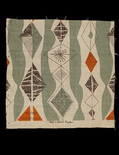 lucienne day, 1950s, allegro furnishing fabric