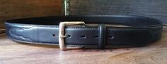 "3D ""DDD"" Black Genuine Leather Cowboy Western Belt Men's Size 46 #1011XL #3D #FashionBelt"