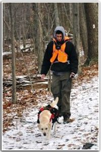Hiking with dogs on the Appalachian Trail; see link to AT Conservancy dog information.