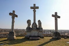 Calvary Hill crucifixes - Tata, Hungary Crucifix, Homeland, Temples, Hungary, Roots, Trips, Places To Visit, Articles, Europe
